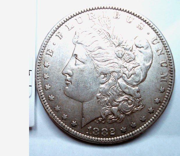 2: 1882O/S Morgan $  undipped AU55