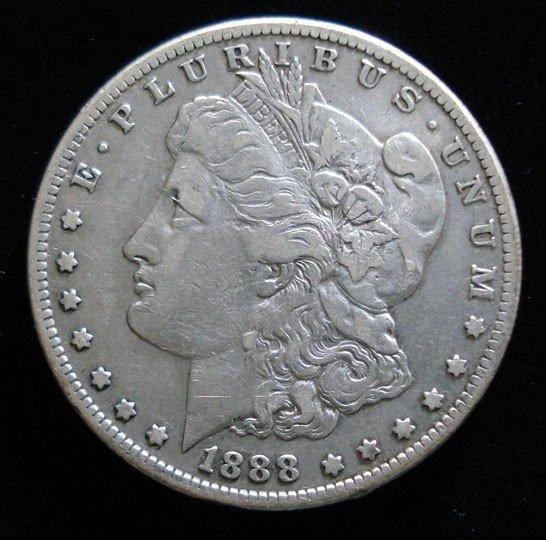 4: 1888S Morgan $  VF