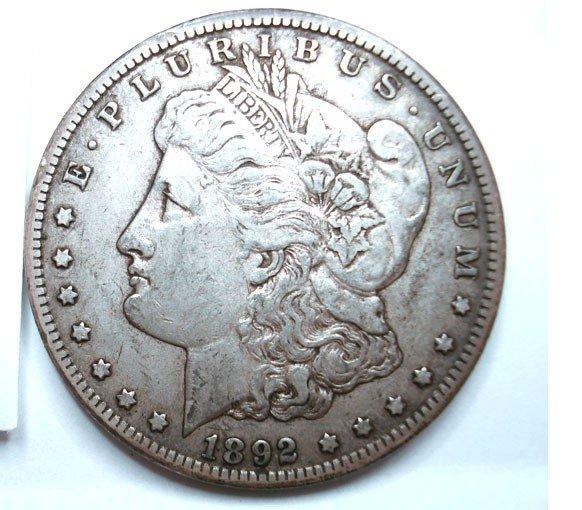 6: 1892CC Morgan $  undipped XF