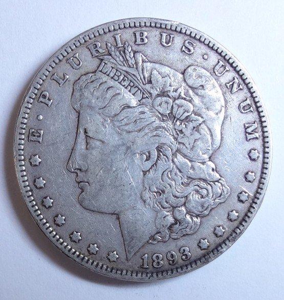 7: 1893 Morgan $ VF30