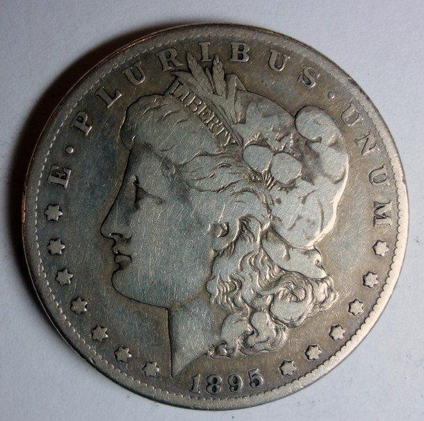8: 1895S Morgan $ VG/F