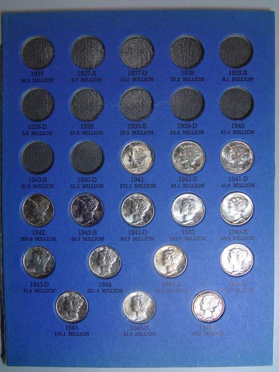 11: 1941-1945 GEMBU Mercury dime set  PQ set
