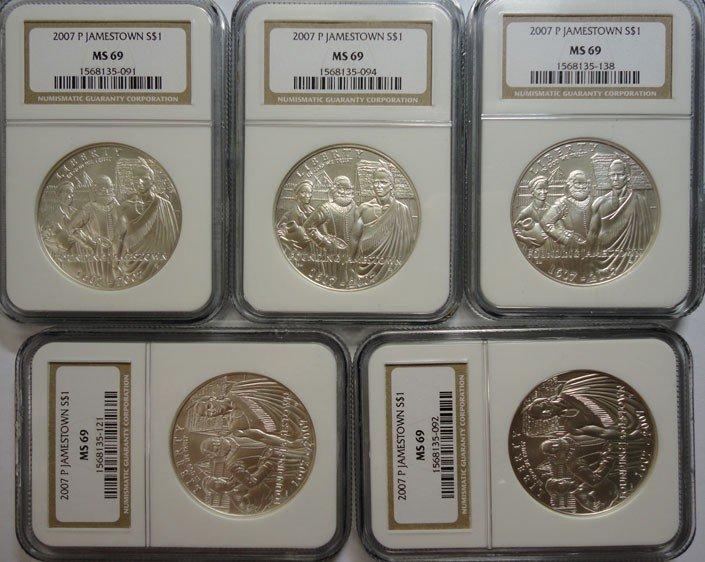 12: 5 Jamestown silver $  NGC69