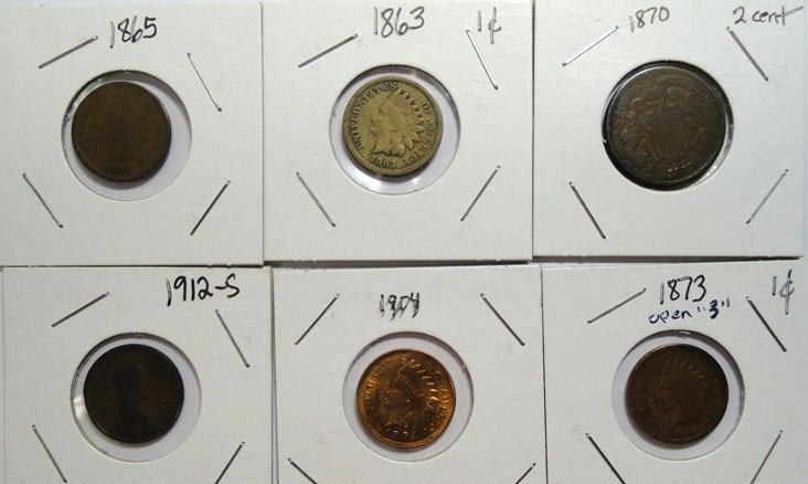 17: Collector lot better coins:1863-65 G-1873 open 3 VG