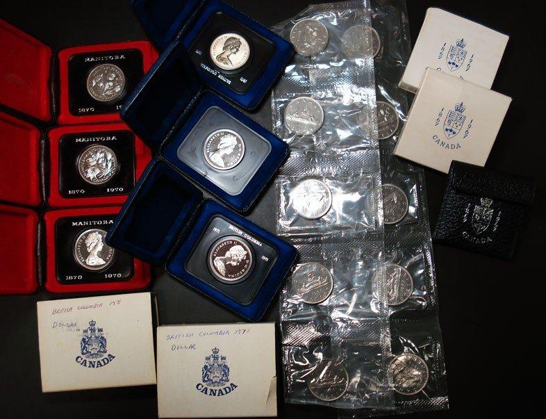 12: 3  1970 Manitoba-5  1971 British Columbia Canada $