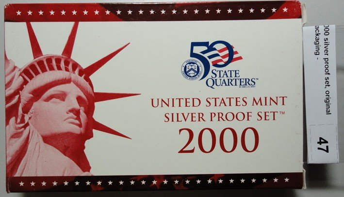 13: 2000 silver proof set, original packaging