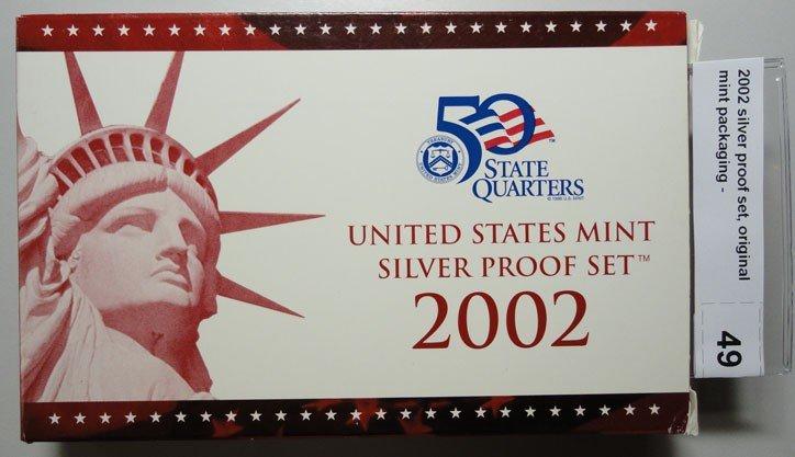 14: 2002 silver proof set, original mint packaging