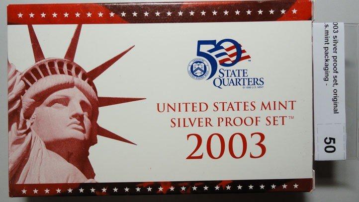 23: 2003 silver proof set, original  u.s.mint packaging