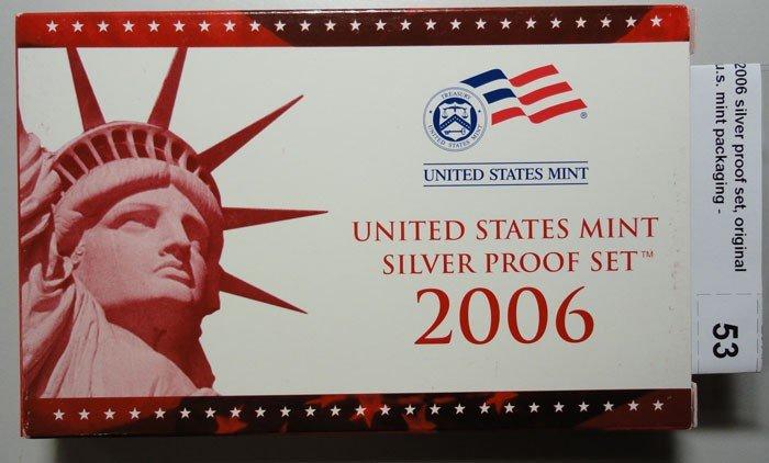 24: 2006 silver proof set, original u.s. mint packaging