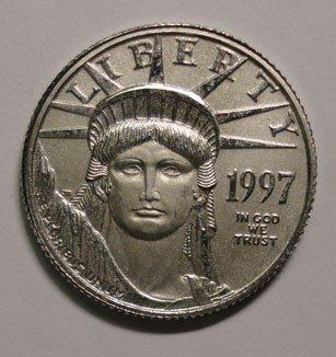 127: 1997 Platinum $10 LIBERTY