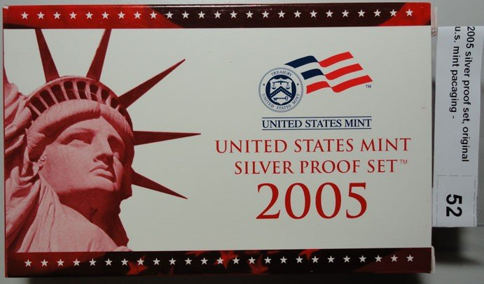 7: 2005 silver proof set, original u.s. mint pacaging