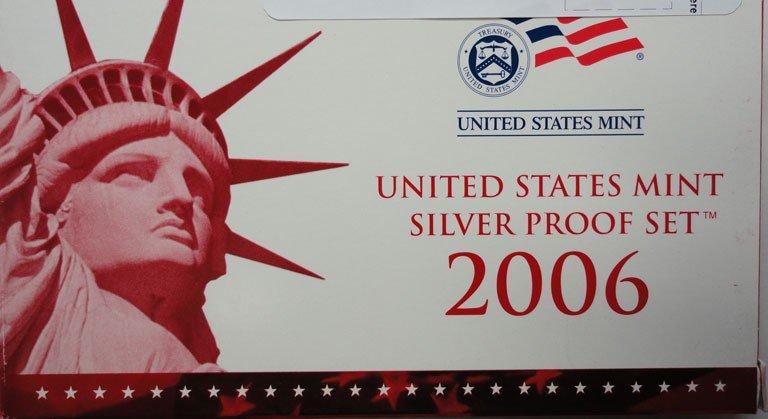 8: 2006 silver proof set, original u.s. mint packaging