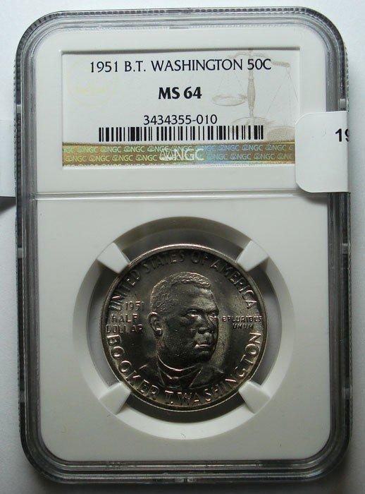 16: 1951 BTW half $  NGC64