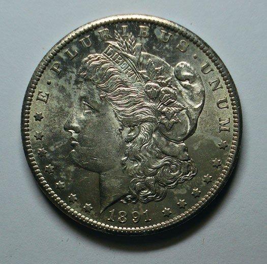 17: 1891S Morgan $  MS62