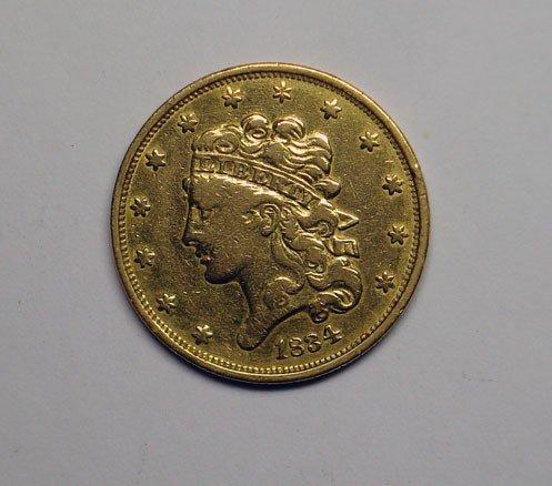 67: 1834 $5  Gold  VF