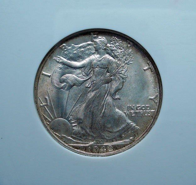 6: 1942D Walker half $  NGC65  GS 65 bid = $260