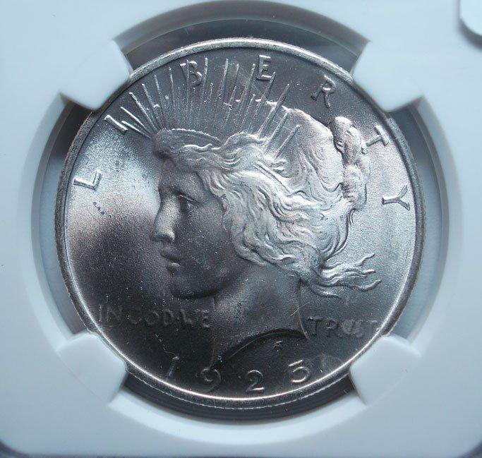 7: 1925 Peace $  NGC66