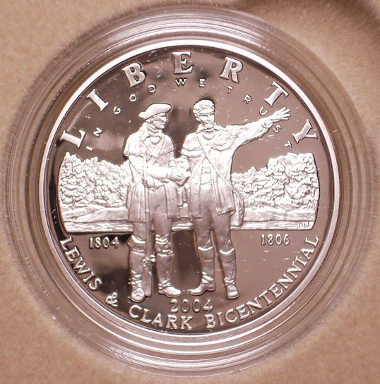 9: 2004 Lewis & Ckark Coin & Pouch Set with Lewis & Cla