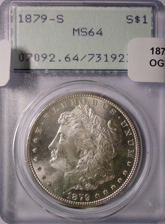 14: 1879S Morgan $  PCGS64