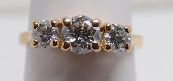 14kt Diamond Ring. 1.50 ctw size 6.
