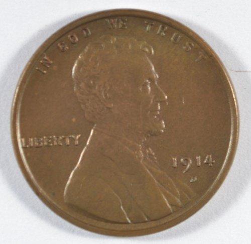 1914-D LINCOLN CENT NICE AU