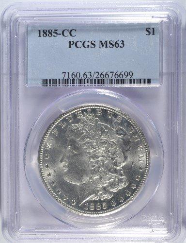 1885-CC MORGAN DOLLAR PCGS MS63