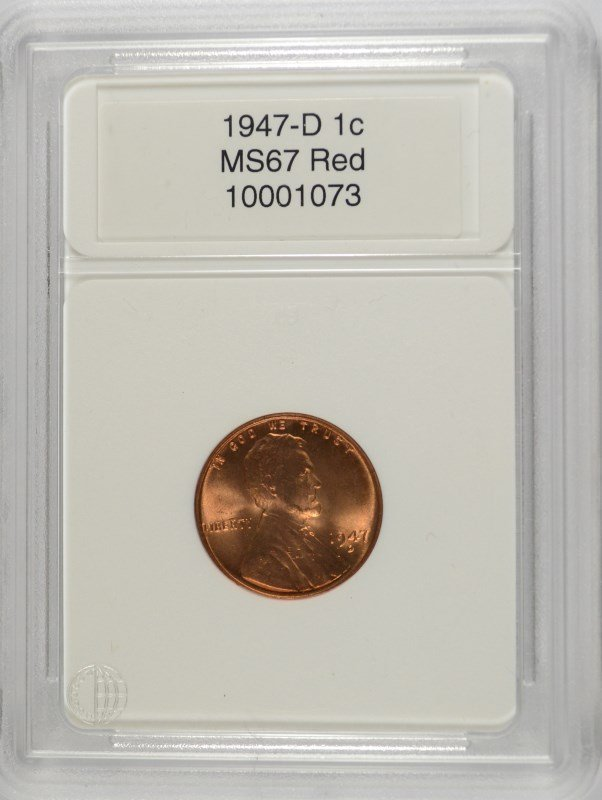 1942 LINCOLN CENT, CCGS MS-67 RED