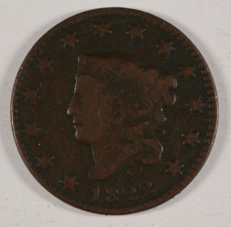1822 LARGE CENT FINE