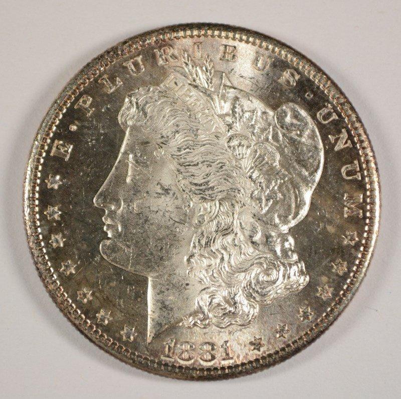 1881-S MORGAN DOLLAR MS-64