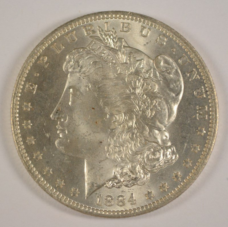 1884-O MORGAN DOLLAR GEM BU