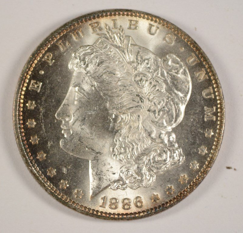 1886 MORGAN DOLLAR MS-63