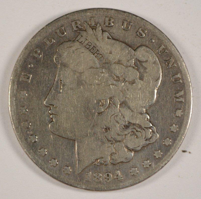 1894-S MORGAN DOLLAR VG RIM BUMP REV.