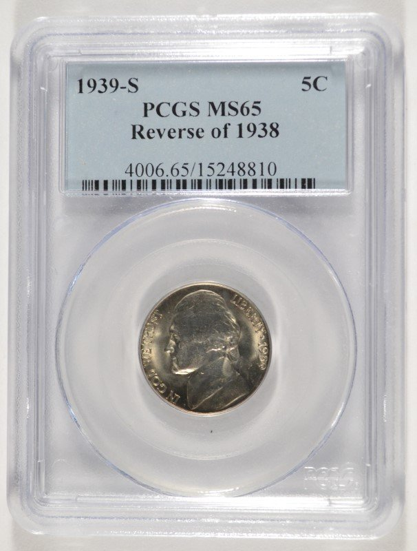 1939-S REVERSE OF 1940 JEFFERSON NICKEL, PCGS  MS-65