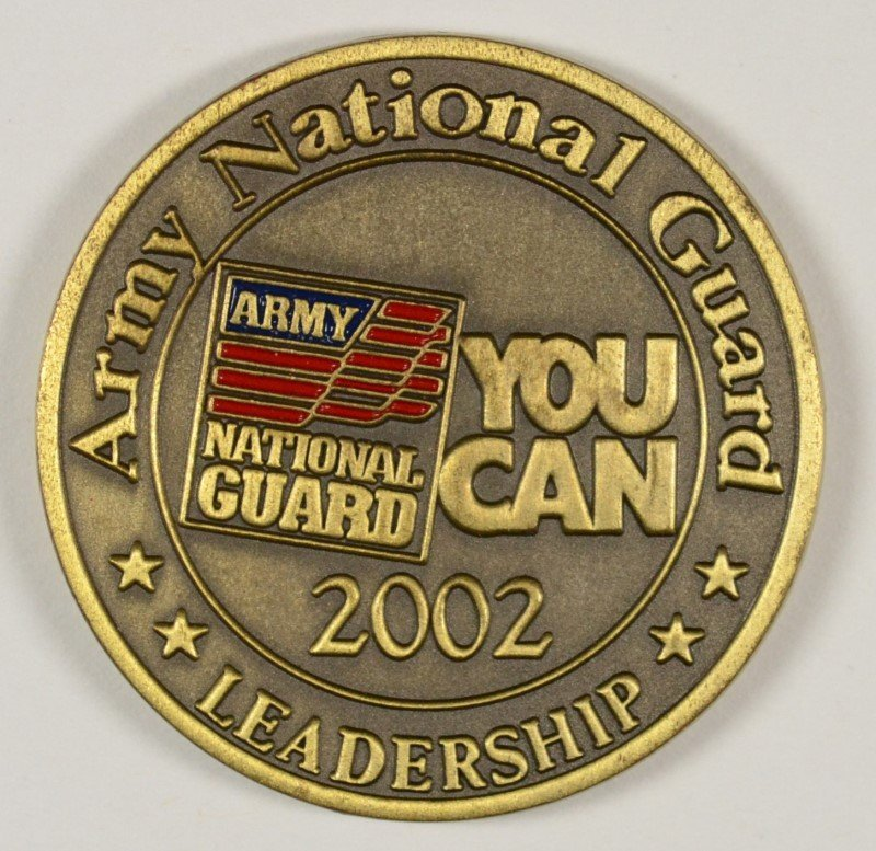 US ARMY NATIONAL GUARD MILITARY CHALLENGE COIN.