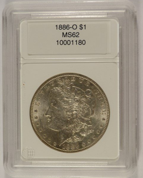 1886-O MORGAN SILVER DOLLAR, CCGS MS-62  RARE!!