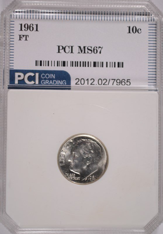 1961 ROOSEVELT DIME, PCI MS-67 FULL TORCH!