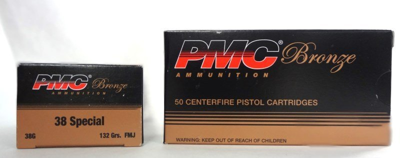 2 boxes of PMC Bronze Ammunition 38SP. 50 Cartridges