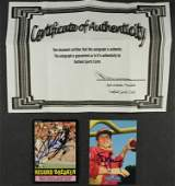 STEVE YOUNG  WALTER PAYTON AUTOGRAPHED CARDS  2 CARDS