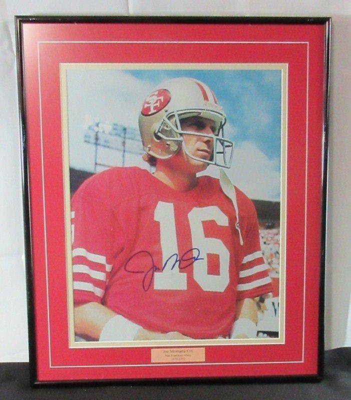 Joe Montana 16 SF 49ers Autographed Framed Signed 11x14