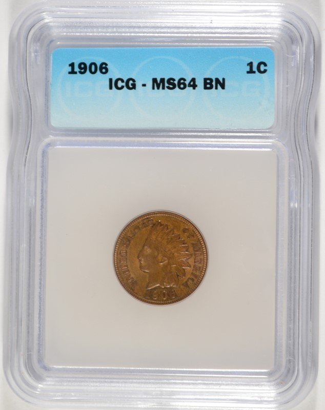 1906 INDIAN CENT ICG MS-64 BN