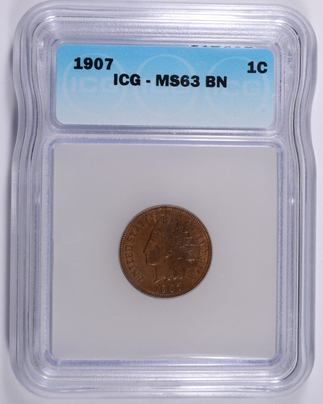 1907 INDIAN CENT ICG MS-63 BN
