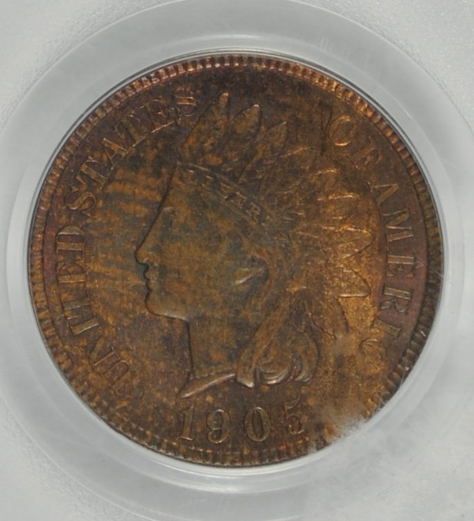 1905 INDIAN HEAD CENT, PCGS MS-63 BN - 2