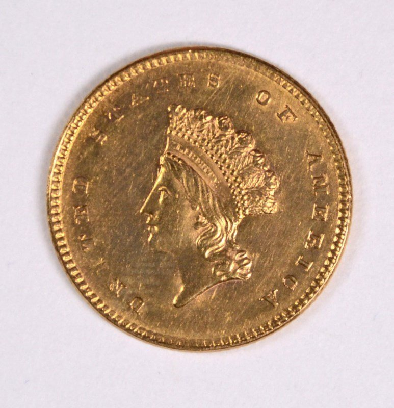 1854 GOLD DOLLAR TYPE 2 CH BU SOME LIGHT CLEANING