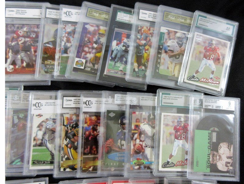 43 GRADED NFL FOOTBALL CARDS - ALL FROM 1990's - PSA - - 3