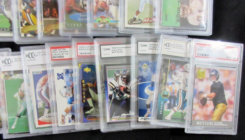 43 GRADED NFL FOOTBALL CARDS - ALL FROM 1990's - PSA - - 4