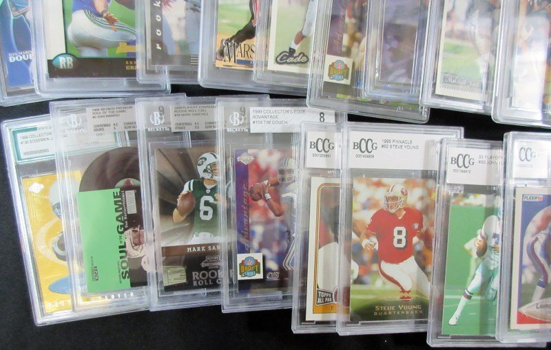 43 GRADED NFL FOOTBALL CARDS - ALL FROM 1990's - PSA - - 5