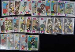 26  1973 TOPPS FOOTBALL CARDS  MOSTLY STAR CARDS
