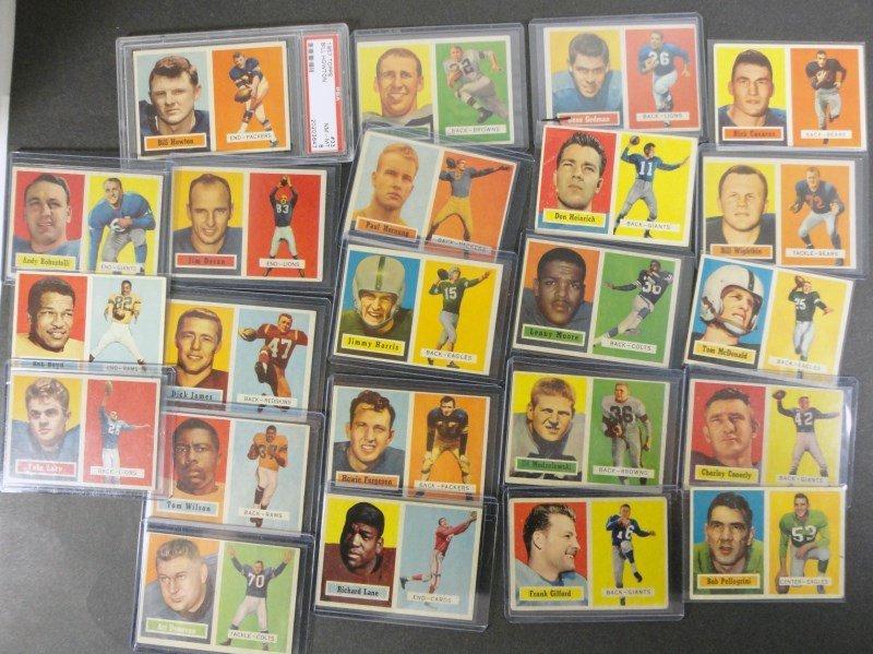 23 - 1957 TOPPS FOOTBALL CARDS, HORNUNG, MOORE,