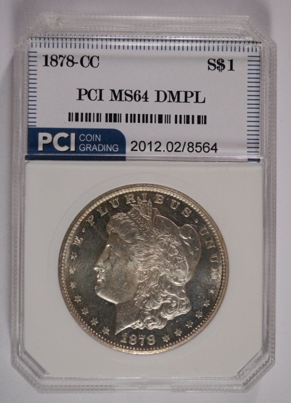 1878-CC MORGAN SILVER DOLLAR PCI MS64 DMPL