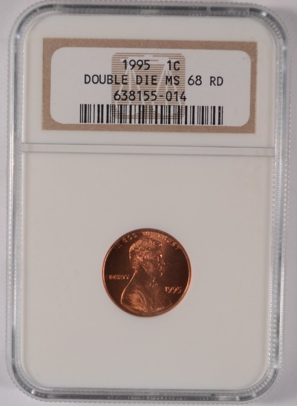 1995 DOUBLE DIE LINCOLN CENT NGC MS-68 RED